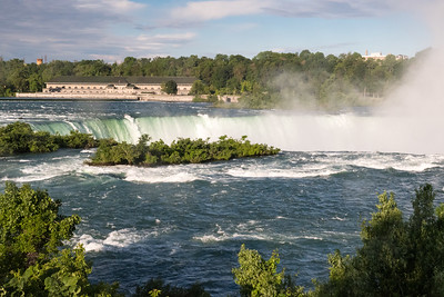 Niagara's Horseshoe Falls in early morning.