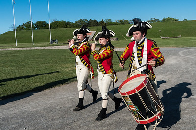 Drum & fife corps at Fort Niagara.