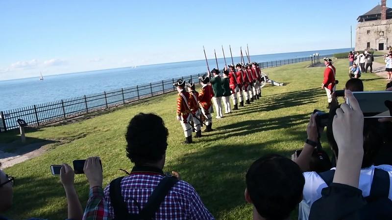 Demonstration of firing at Fort Niagara.
