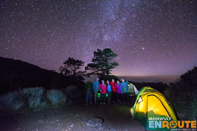 Enjoying the starry night at Camp 2