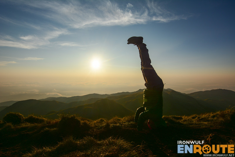 A litte yoga at the summit