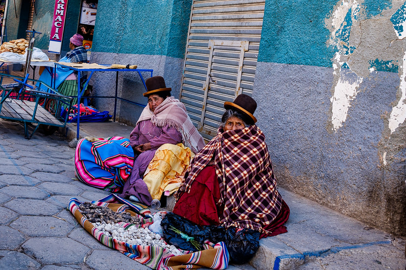 Selling Their Wares - Cococabana, Bolivia