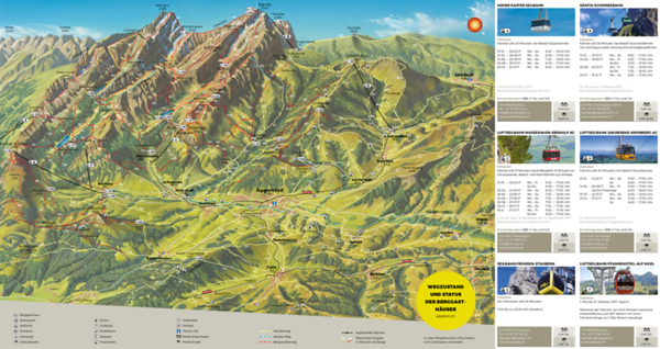 Hiking map of the Alpenzeller region.