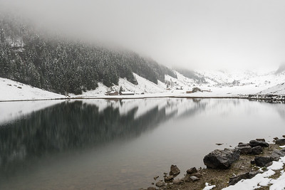 Seealpsee, a pretty glacial tarn in this alpine valley.