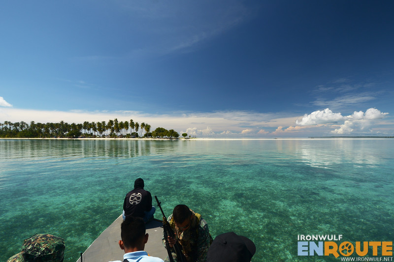 View of Panampangan Island from our speedboat