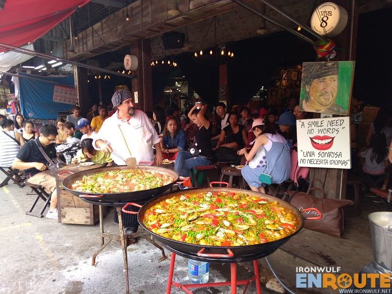 Giant paella at Chatuchak