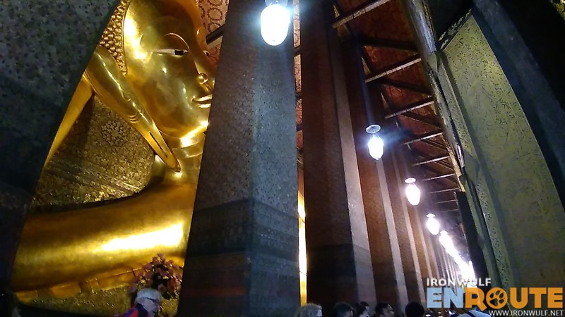 Taking advantage of the wide angle lens on the reclining giant Buddha