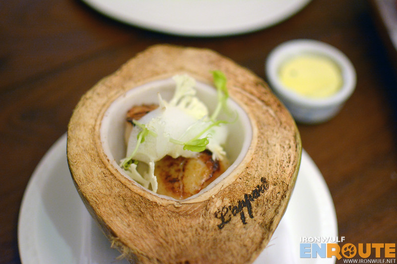 L'Appart stamp of quality on the Coconut Scallop