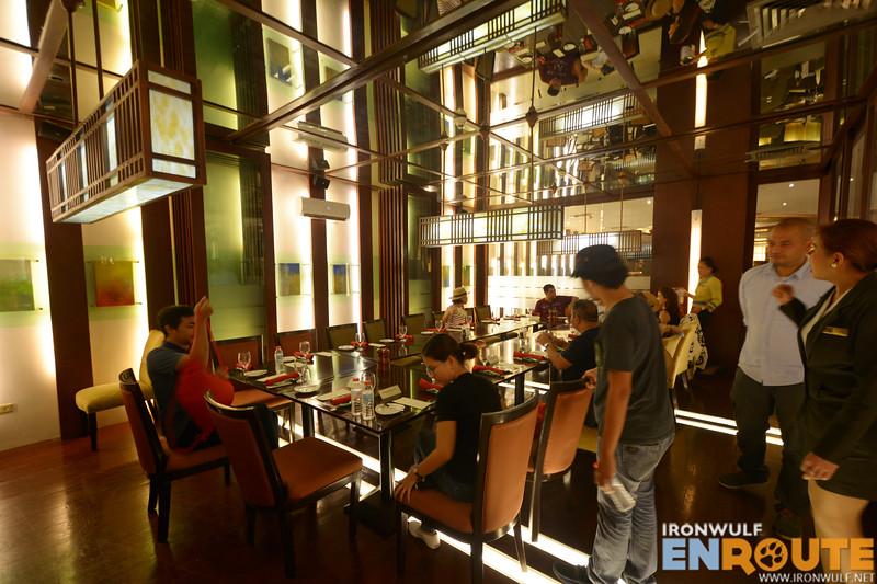 Dining at the Seasons restaurant