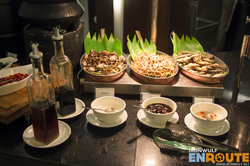 Filipino offerings at the breakfast buffet
