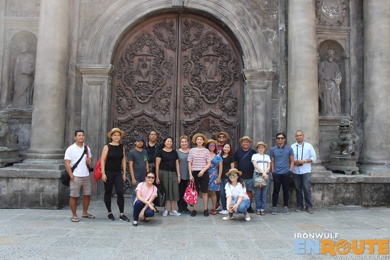 Exploring Manila with this bunch. At the elaborate door of San Agustin Church