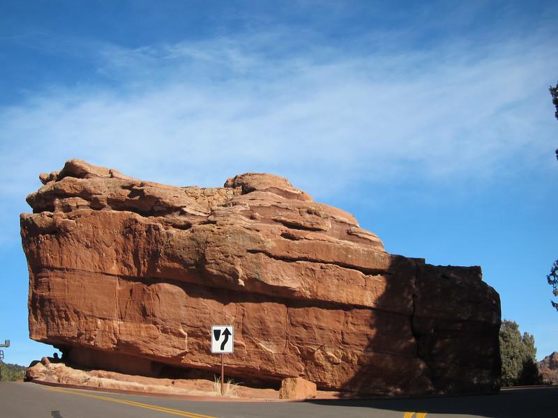 Going to Balancing Rock.