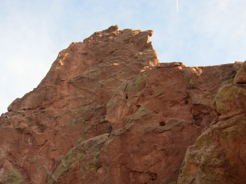THere are rock pigeons at the top. I could hear them cooing...