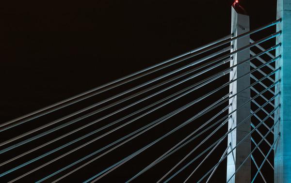 2018-02-06 Night scenes - Tilikum Bridge, Portland