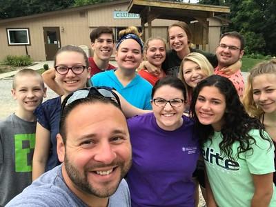 The Zip=lining group! (Matt, Ashley, Dan, Aaron, Tori, Katie, Tracy, Samantha, Reva, Ally, Jake and Lauren)