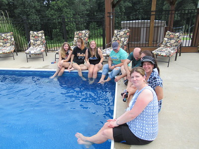 A few of us testing out the pool.