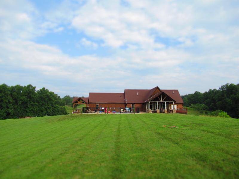 Backyard view of Meadows Lodge