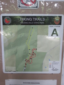 We hiked on the bottom left red trail until it changed to yellow... and hiked the loop then back.