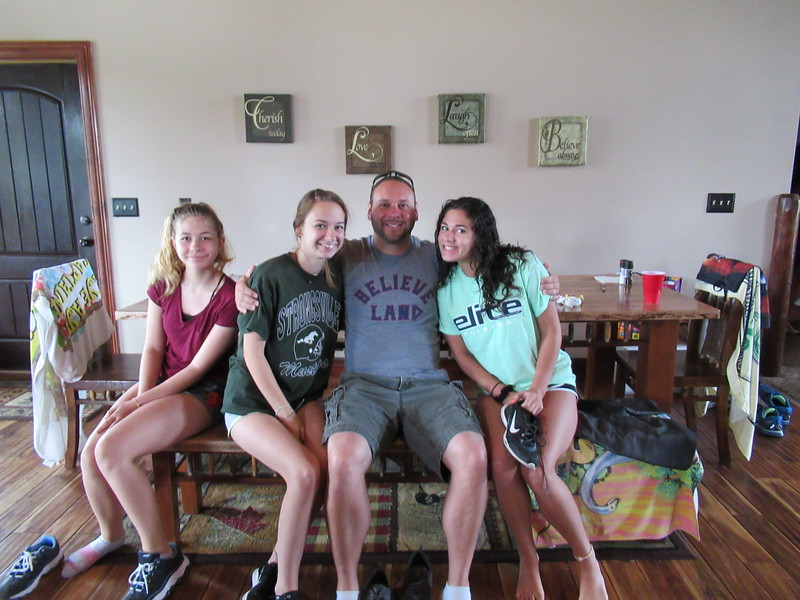 Uncle Dan with Lauren, Samantha and Ally.