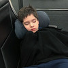 Eli at the Seattle Airport ready to be home