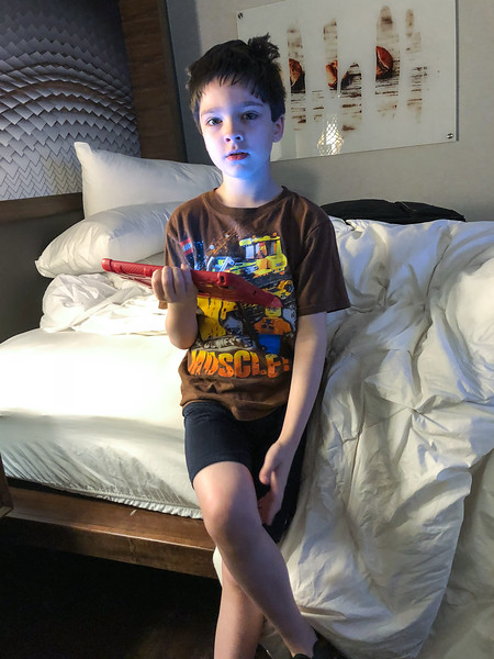 Eli has arrived at the Marriott in Seattle