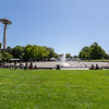 Having fun at the International Fountain in Seattle Center