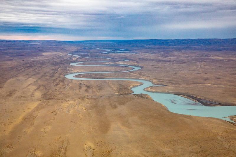 Patagonie z letadla