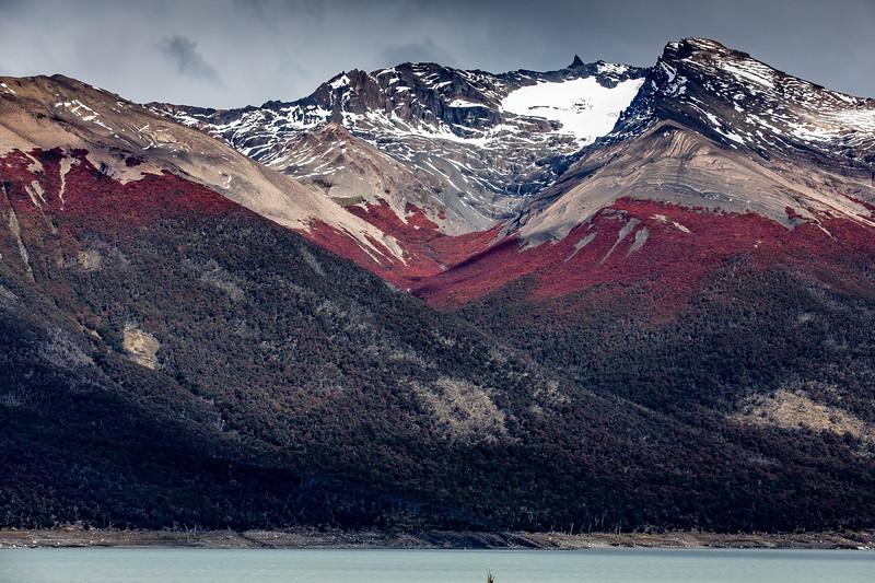 Hory Patagonie podzim