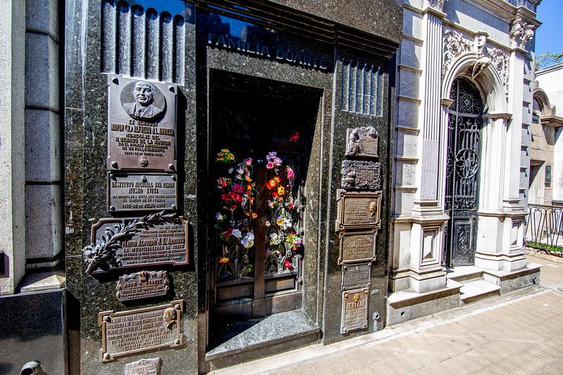 Evita Perón hrob Argentina Buenos Aires La Recoleta