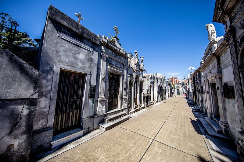 Recoleta hřbitov Buenos Aires