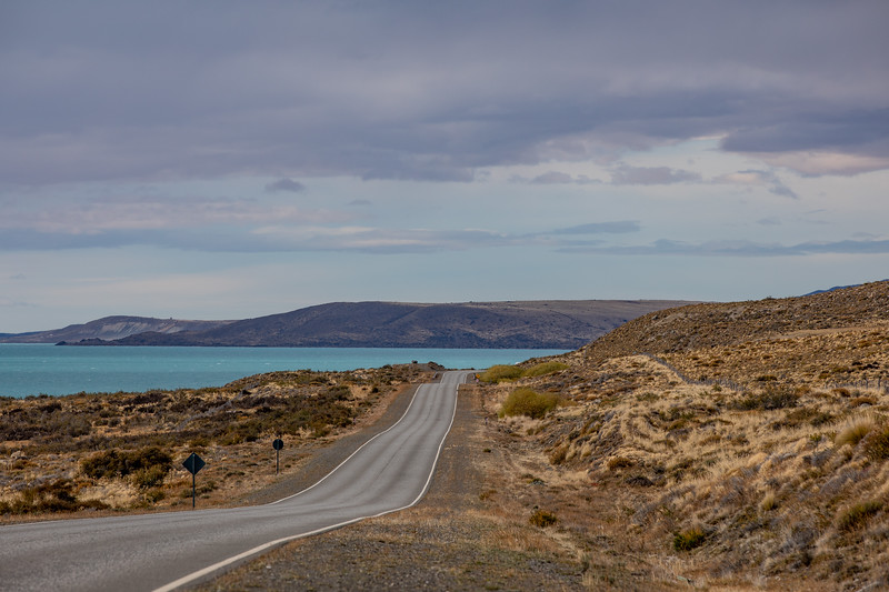 Patagonia road lake