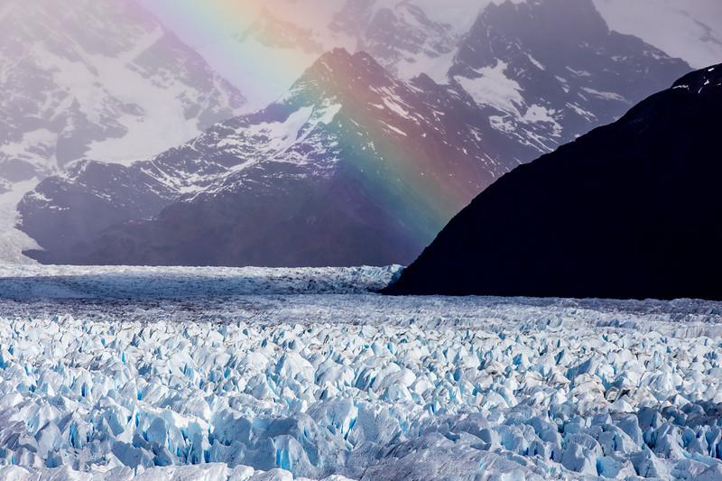Duha ledovec Perito Moreno