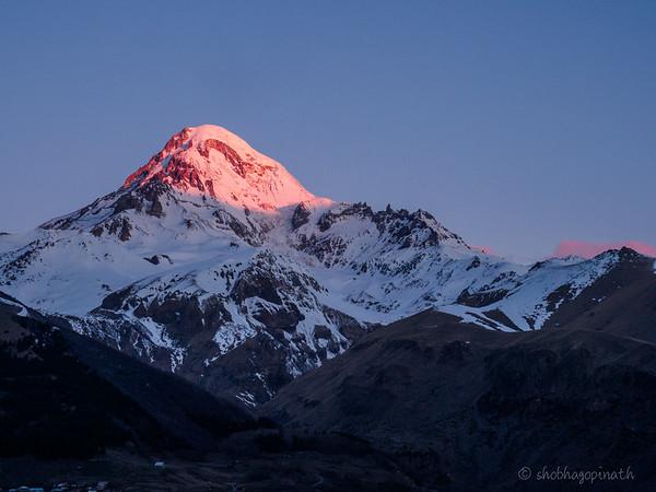 Sunrise Mt Kazbek
