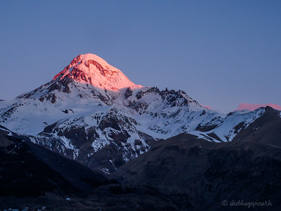 Sunrise Mt Kazbek