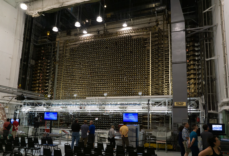 B Reactor wasn't designed to generate electricity - it turned uranium into plutonium for the Manhattan Project (and later nuclear weapons). The core of the reactor is essentially a giant cube of graphite, encased in an 8-inch thick iron thermal shield and thinner steel-and-masonite biological sheilding.