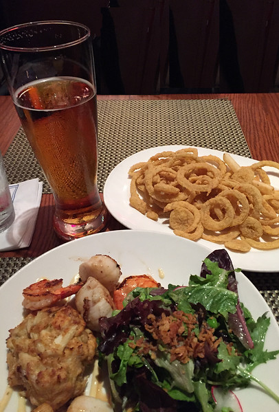 My usual departure dinner at Legal Seafoods at Logan Airport. May 30, 2018.