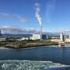 Leaving Dublin Port on the Ferry. New incinerator. June 3, 2018.