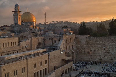 The Dome of the Rock over the Western Wall of Temple Mount. Jerusalem. Nov 2018. Photo by Weldon Weaver.