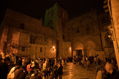 Evening at the Church of the Holy Sepulchre. Nov 2018. Photo by Weldon Weaver.