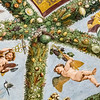 High stepping Cupids<br /> <br /> The Loggia of Cupid and Psyche (1518)<br /> <br /> By the group of Raphael with festooning by Giovanni da Udine<br /> <br /> Images of corn from the New World painted in 1518<br /> <br /> Farnesina, Trastevere<br /> <br /> Rome, Italy