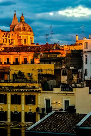 Santa Maria Maggiore at sunset from our Air B&B