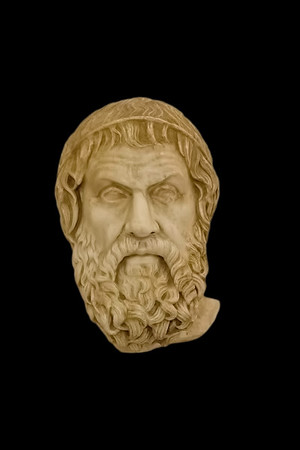 Sophocles<br /> <br /> 1st century AD copy of a Greek original of the 4th century BC<br /> <br /> Archaeological Museum of Naples