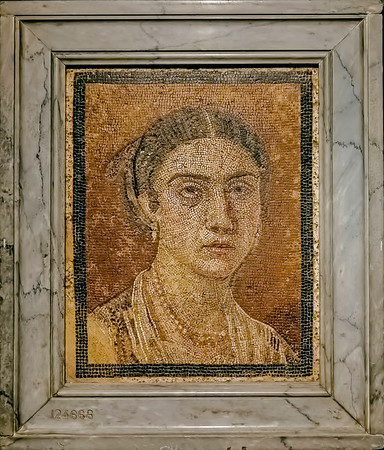 Mosaic from Pompeii in the Archaeological Museum of Naples.