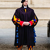 Swiss guard outside St. Peter's Basilica<br /> <br /> Vatican City, Rome
