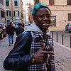 The second morning I was in Rome, I went out in the morning for a walk in the Monti district.  I met this Senegalese immigrant.
