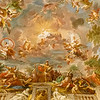Ceiling art from the first floor of the Borghese Museum.
