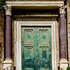The original bronze door of the Temple of Divus Romulus, a son of Maxentius.  This temple was built around 400AD in the Roman Forum.