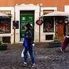 Trastevere street scene<br /> <br /> Trastevere, Rome, Italy