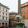 "The ""Elephant and Obelisk"" is a sculpture designed by the Italian artist Gian Lorenzo Bernini. The elephant was probably executed by his assistant Ercole Ferrata; the Egyptian obelisk was uncovered during nearby excavations. It was unveiled in February 1667 in the Piazza della Minerva in Rome, adjacent to the church of Santa Maria sopra Minerva, where it stands now."