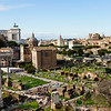 View of the Roman Forum from the second floor patio/cafe of the Capitoline Museums.